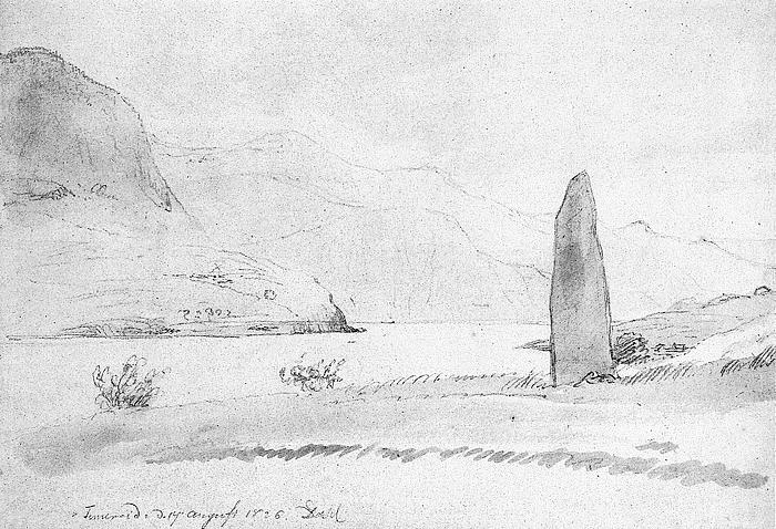 J.C. Dahl: Bautasten ved Sognefjorden, 17. august 1826
