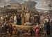 J.L. Lund: Kristendommens indførelse i Danmark, 1827, olie på lærred, 370 x 530 cm, nu i Statsrådssalen, Christiansborg