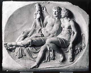 Herkules og Omfale, originalgips, Nordjyllands Kunstmuseum, Aalborg