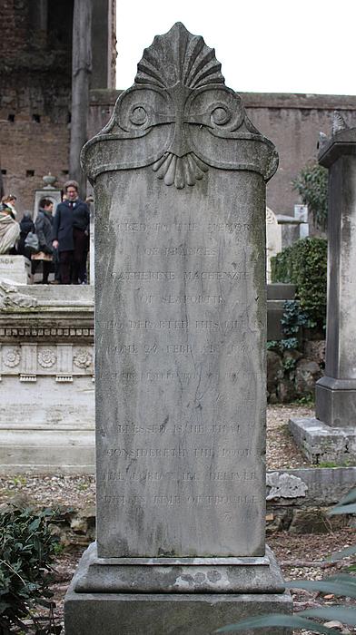 Gravmæle for Frances Mackenzie, Cimitero Acattolico
