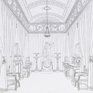 Det såkaldte Flaxman-værelse i Thomas Hopes London-residens