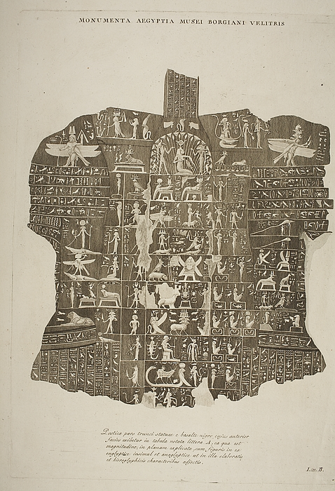Relief med hieroglyffer
