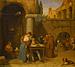 En romersk gadeskriver skriver et brev for en ung pige