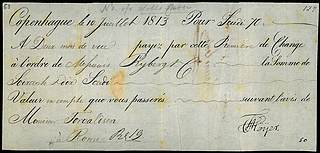 Bill of exchange issued by C. F. Høyer, July 10, 1813