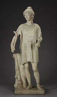 Unknown artist, Paris, marble, Roman, ca. 100-200 AD, restored in the 18th century, The J. Paul Getty Museum, inv. no. 87.SA.109.
