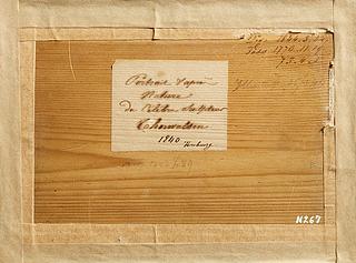 Rückseite der Daguerreotypie mit der Beschriftung