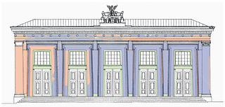 Bevaringstilstand for hovedfacadens pudsede murflader for restaureringen i 2006. Uddrag af den grafiske tilstandsregistrering.