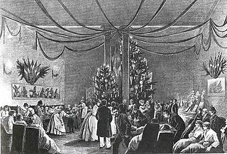 K. Gamborg: Juleaften på Kommunehospitalet, 1887 - Public domain