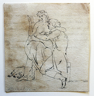 Det læsende par, Kobberstiksamlingen, Td 566,1 recto
