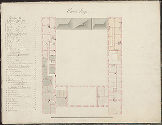 Plan of the upper floor of Charlottenborg Palace, © Danish National Art Library
