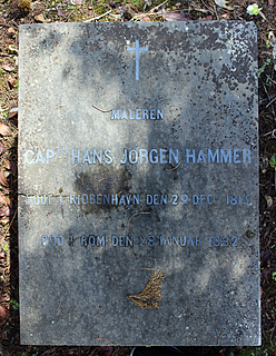 Gravmæle for H.J. Hammer, Cimitero Acattolico