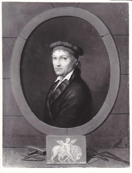 Bernard von Guérard, Portræt af Thorvaldsen, 1831 Napoli