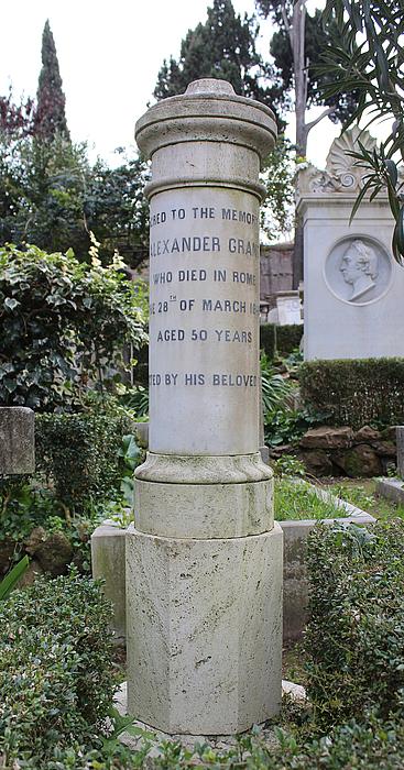 Gravmæle for Alexander Grant, Cimitero Acattolico