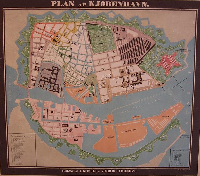 Plan af København 1850