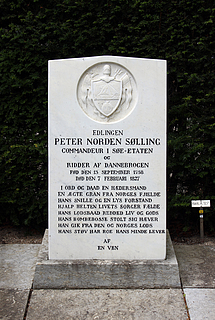 Gravmæle Peter Norden Sølling, Holmens Kirkegård, København