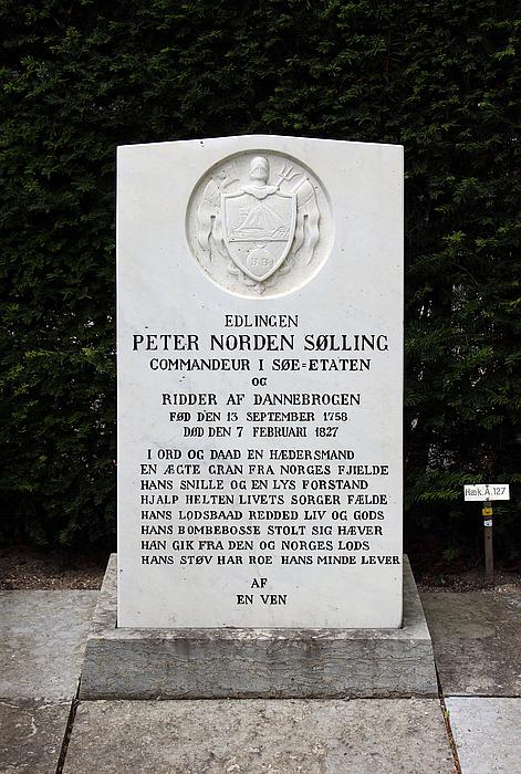 Gravmæle Peter Norden Sølling