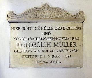 Gravmæle for Friedrich Müller, Sant'Andrea delle Fratte, Rom