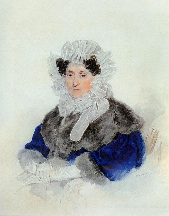 P.F. Sokolov, Portræt af Grevinde E.A. Osterman-Tolstoy, 1830