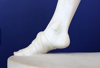 H.W. Bissen: Den sårede Filoktet, marmor, 199 cm, hugget 1886 af Vilhelm Bissen, Ny Carlsberg Glyptotek