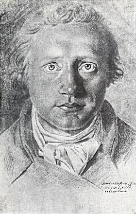 Asmus Jacob Carstens: Selvportræt (ca. 1785)