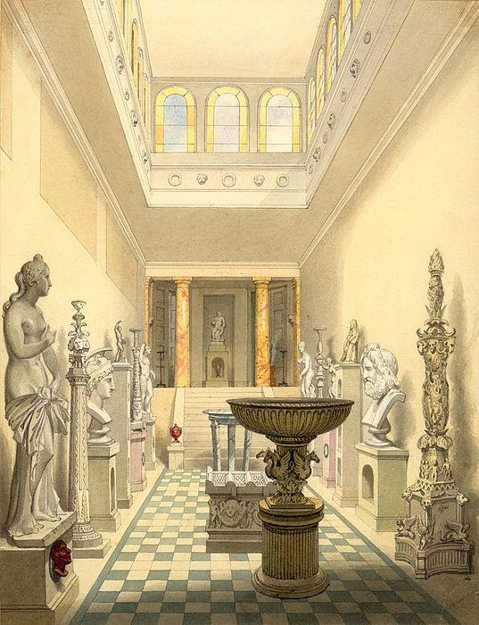 Penry Williams: Vue fra Skulpturgalleriet, 1826