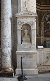 Julius Troschel & Otto Cornill: Gravmæle over Franz Catel, Santa Maria del Popolo