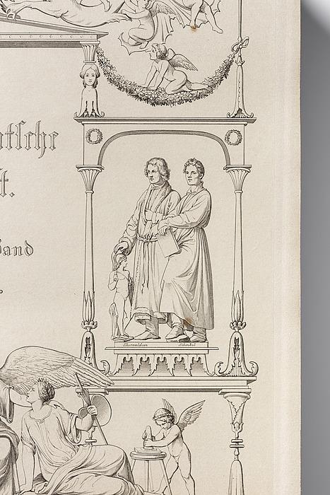 A. Raczyński: Geschichte der Neueren Deutschen Kunst, titelblad, bd. 2