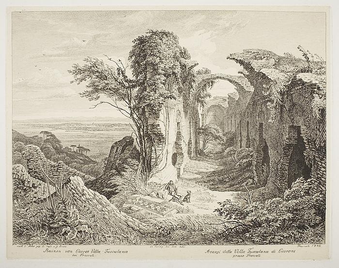 Ruinen von Ciceros Villa Tusculana bei Frascati ( Ruinen af Ciceros Villa Tusculana ved Frascati )