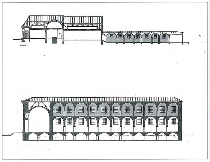 Længdesnit af Faaborg og Thorvaldsens Museum