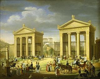 Indkørsel til Villa Borghese i Rom