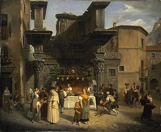 Francesco Diofebi: Josefstag (19. März) in Rom, 1832 - Copyright gehört Thorvaldsens Museum