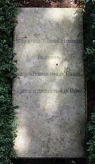 Gravmæle for J.W. Henschel, Cimitero Acattolico