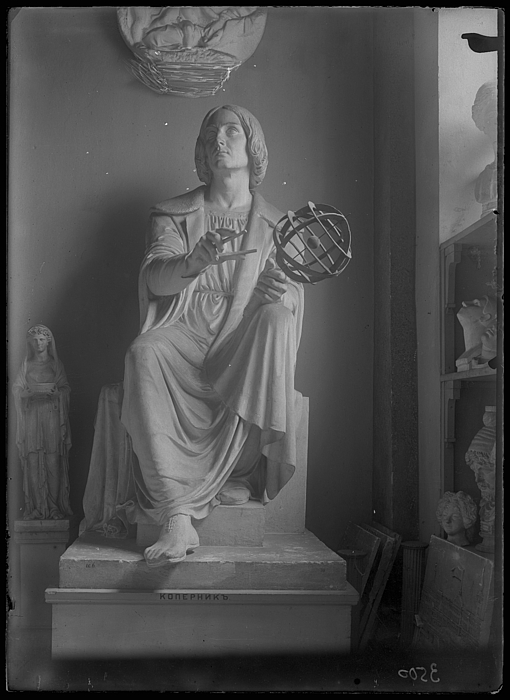 Nicolaus Copernicus i Warszawa, gipsmodel