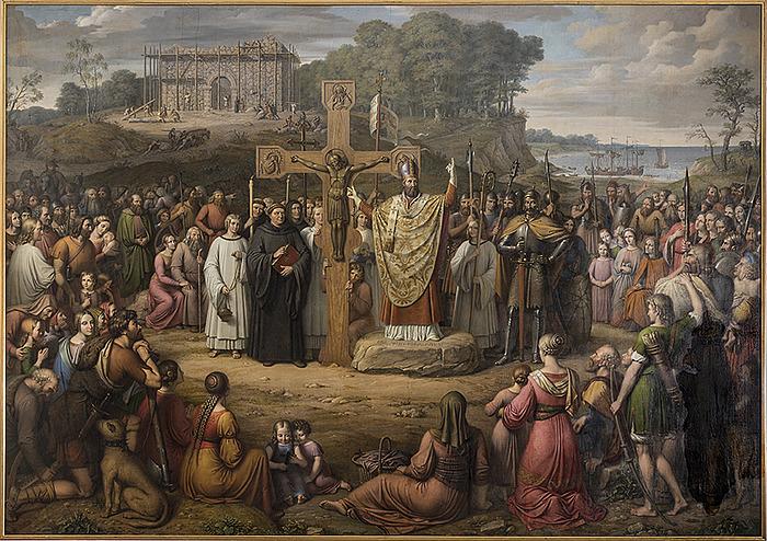 J.L. Lund: Kristendommens indførelse i Danmark