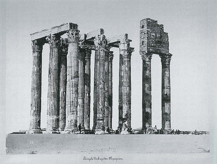 Petros Moraïtes: Østpartiet af Olympieion set fra sydøst, ca. 1870