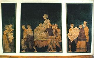 Udsnit af den oprindelige Sonnes frise, Aarhus Kunstmuseum