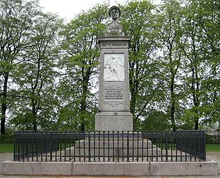 Frederik 6.s monument, Skanderborg Slotsbanke. 1845.