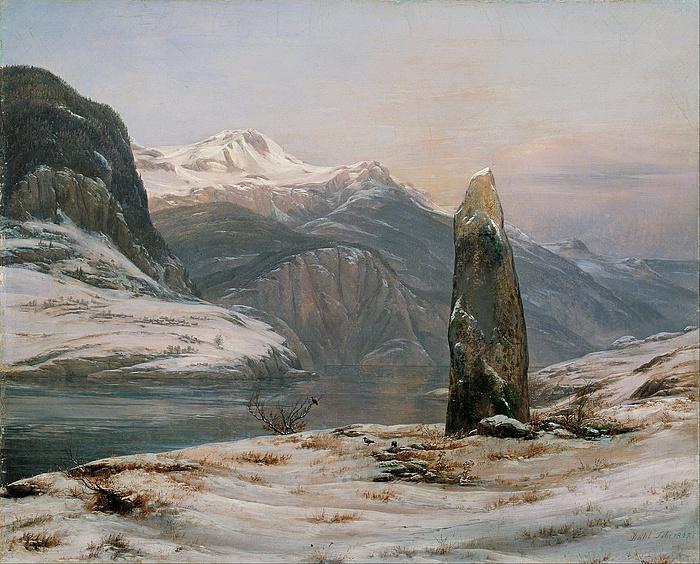 J.C. Dahl: Vinter ved Sognefjorden, 1827