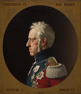 Kopi efter C.W. Eckersberg, Portræt af Frederik 6., 1839, Thorvaldsens Museum, B 216