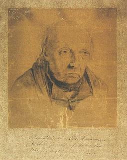 Emil Horneman. Portræt af faderen Christian Horneman, 1840'erne.