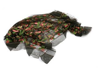 Sjal, der har tilhørt Charlotte Dorothea Fischer, foræret til hende af Thorvaldsen i Rom. Foto Bruun Rasmussens kunstauktioner
