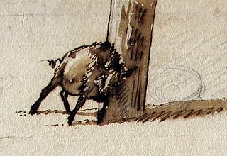 J.C. Dahl, Gris der gnubber sig op ad en stolpe