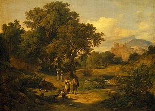 Carl/Károly Markó: Italienishce Berggegend, ca. 1836 - Copyright gehört Thorvaldsens Museum