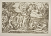 The Judgment of Paris, ca. 1510-1520, drawn by Raphael Santi, engraved by Marcantonio Raimondi, reproduced by the latter's student Marco Dente