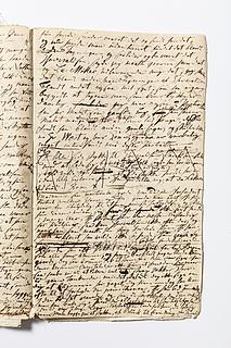 Christine Stampes manuskript om Thorvaldsen, side 106