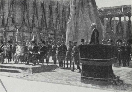 Poniatowski, afsløringen Warszawa 1923