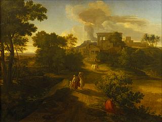 Gottlieb Schick: Heroische Landschaft mit Hagar und Ismael, 1809-10 - Copyright gehört Thorvaldsens Museum