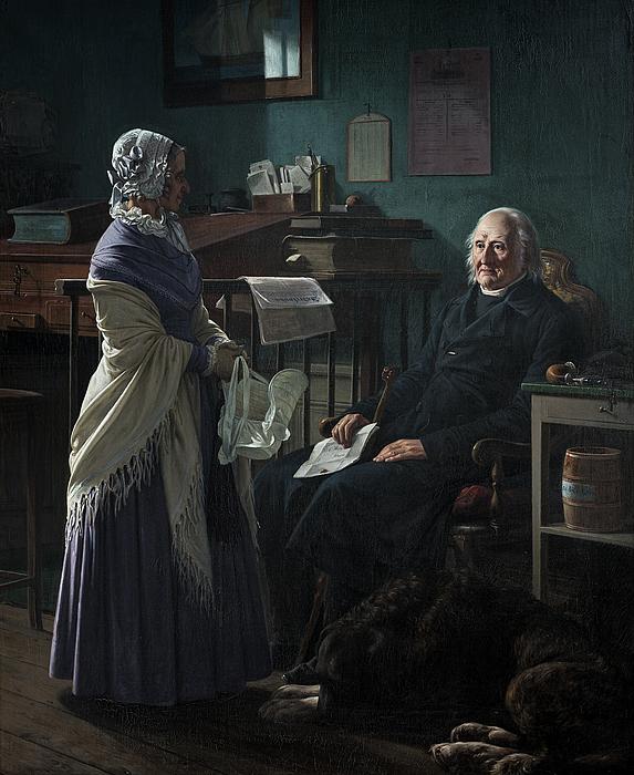 Wilhelm Marstrand: Dobbeltportræt af C.F. Hage og hustru Arnette f. Just