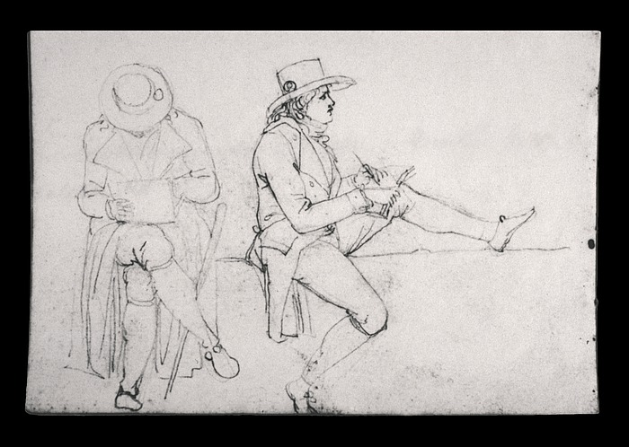 Bertel Thorvaldsen: Tegnende mand med kokarde i hatten, 1804