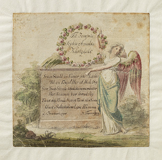 Albumblad til jomfru Kurtzhals